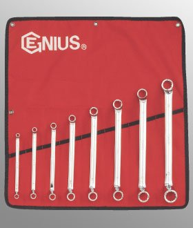 Offset Ring Wrench Set (8 Piece Metric Double Ended Offset Ring Wrench Set by Genius Tools)