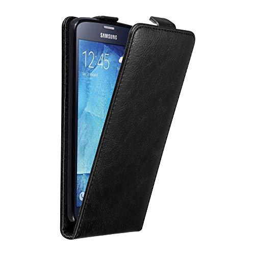 Cadorabo custodia per samsung galaxy s5 / s5 neo in nero di notte - protezione in stile flip con chiusura magnetica - case cover wallet book etui