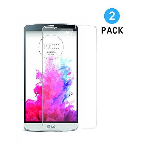 LG G3 Panzerglas,[2 Stück] WEOFUN Ultra-klar Schutzfolie für LG G3 D855 5,5 Zoll [0.33mm, 9H, Ultra-klar]