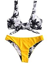 62210e13353025 Fenverk DamenFloral Design Bikini Set Zweiteilig Trendigen BH Kleidung für  Mä Frauen gedruckt Bikini Bademode Set