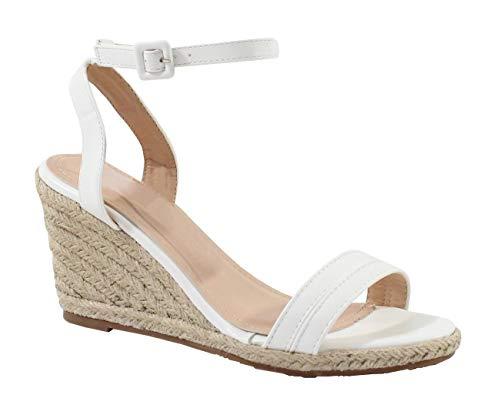 by Shoes - Sandale Compensée en Corde de Chanvre - Femme - Taille 40 - Wh