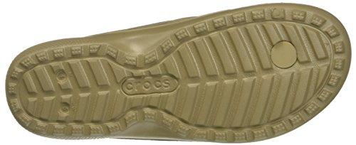 crocs Unisex-Erwachsene Classicflip Pantoffeln Braun (Khaki)