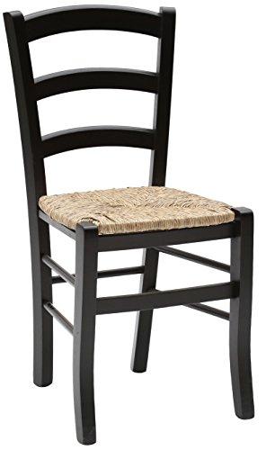 Fashion commerce 02-fc310n set di sedie, legno, nero, 42x43x88 cm, 2 unità