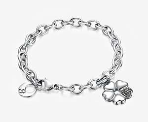 Armband mit Blume aus Herzen, mit Kristallen. Luca Barra BK794