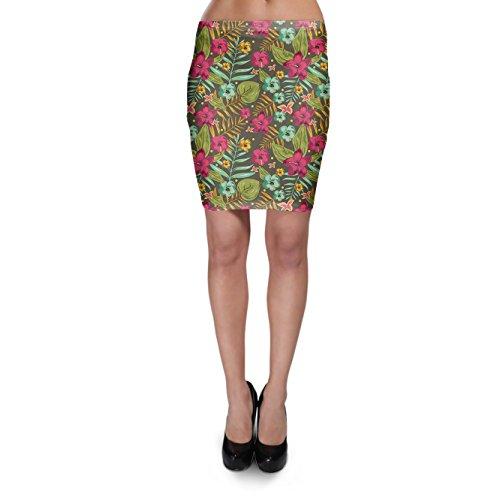 Retro-Hawaii-Flores-Bodycon-falda-XS-3-X-L-Elstico-Falda-Corta