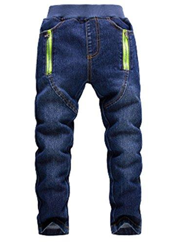Waboats Kind Jungen Mädchen 3-7 Jahre Jeanshosen Frühling Herbst Jeans 4T Blau -