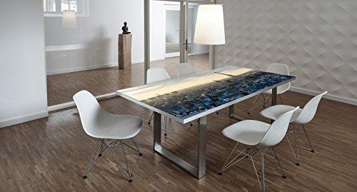 Design-Tisch / Schreibtisch / hochwertige Tischplatte / Esstisch / Arbeitstisch / Bürotisch / Paris / DIY / in zwei Größen erhältlich / ab 149 Euro / Über 50% Aktionsrabatt (Mit Tischuntergestell Edelstahloptik, 200x100 cm)