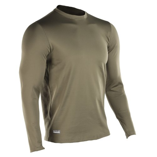Under Armour UA1244394O-L Tactical Langarm Crew T-Shirt ColdGear, Olivgrün, L (Under Marine Armour)
