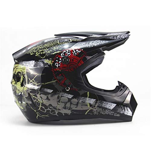 Qianliuk Casco da Moto Adulto caschi Protettivo Casco Ciclismo Motocross Downhill Safety