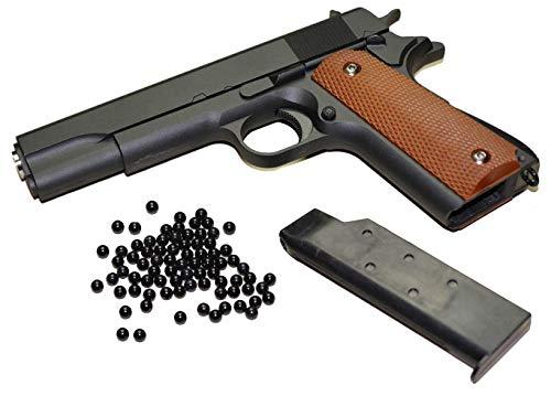 KOSxBO Set Airsoft Pistole - G.13 Vollmetall Metallschlitten, schwarz Cal. 6 mm BB + Softair Munition -