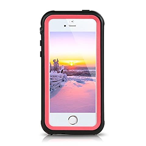 iPhone SE Waterproof Case ERUN iPhone 5s Underwater Case Dust Drop Snow Shock Proof Heavy Duty Protective Carrying Case Cover for iPhone SE/5S/5