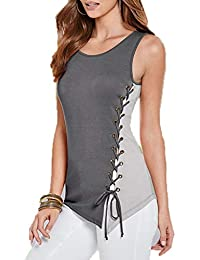 45bb0f3e6413 Freestyle Estivo Tops T-Shirt Camicie Felpe Classiche Casual Rotondo Collo  Senza Maniche Canotte Donna