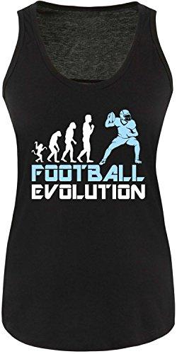 EZYshirt® Football Evolution Damen Tanktop Schwarz/Weiss/Hellbl