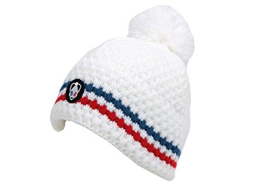 Blanc bonnet - Collector blanc bonnet - Bonnet à pompon - Blanc - Taille Unique