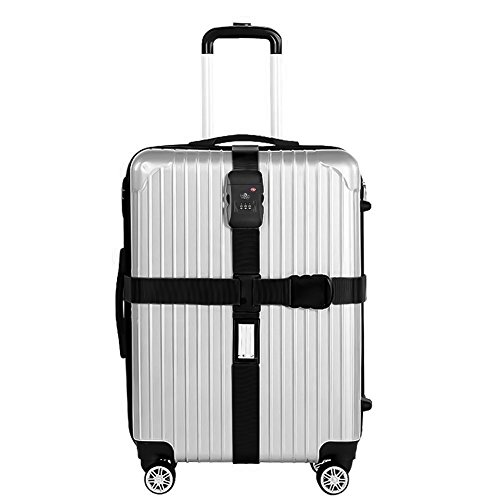 Correa Equipaje-Nylon Resistente/Candado de Combinación TSA-Correas p