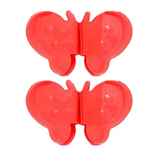 BESTONZON 1 para Butterfly-Silikon-Hot Pot-Halter Verbrühungshitzebeständigkeit für heiße Ofenplatten in der Küche (rot) -