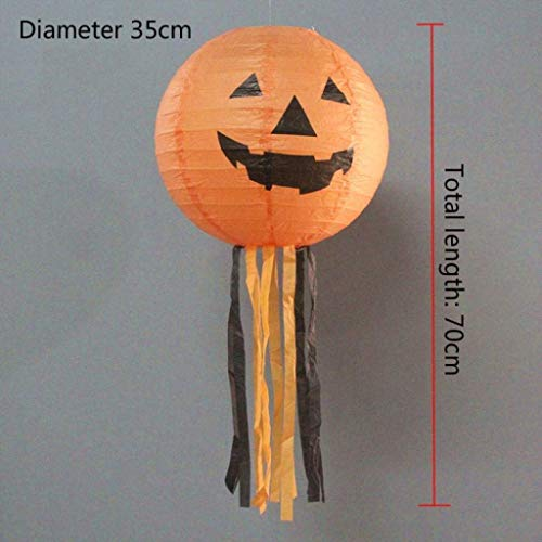 CS-LJ X Hallowas Party Requisiten Kostüm Masken 5 Stücke Kürbis Papier Laterne Licht Halloween Dekoration Hängelampe Kinder for Allerheiligen Allerheiligen (Weihnachten Im Zusammenhang Kostüm)
