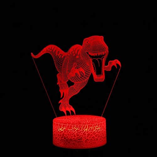 Dinosaurier Thema Tag 3D Lichter Spiel LED Nachtlicht Farbwechsel 7 Touch Geschenk Lichtmodus Geschenk Licht Augenschutzmodus ## 5