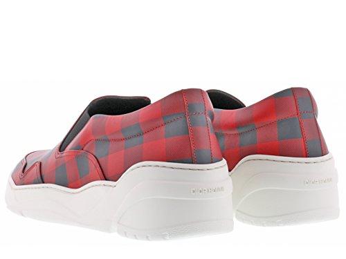 Slipson basket Dior homme en cuir rouge et noir Code modèle 3SN178XGW Rouge  Pour Vendre Jeu Nouveau Choix Combien 5d8e9229b37