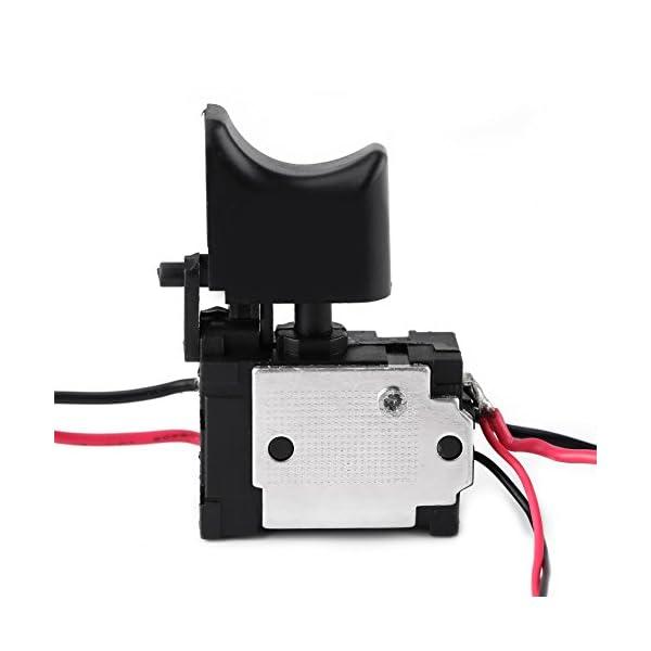 12V Interruptor de Gatillo Interruptor de Taladro El/éctrico Inal/ámbrico Control de Velocidad Interruptor con Reverso para Bater/ía de Litio con Luz Peque/ña