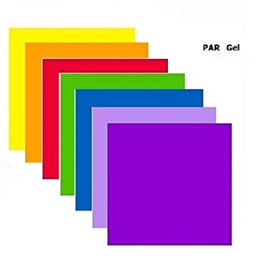 Par 64 / Parcan 64 Gels - 7 x Stage Lighting Filters Colour Gel Pack