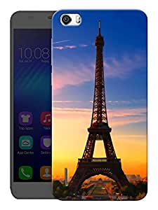 """Humor Gang Eiffel Tower Beautiful Scenery - Paris Printed Designer Mobile Back Cover For """"Huawei Honor 6"""" (3D, Matte Finish, Premium Quality, Protective Snap On Slim Hard Phone Case, Multi Color)"""