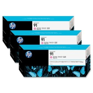 HP C9487A - No. 91 3 Ink Multipack - Light Magenta, Cartridge - 775ml x 3 -