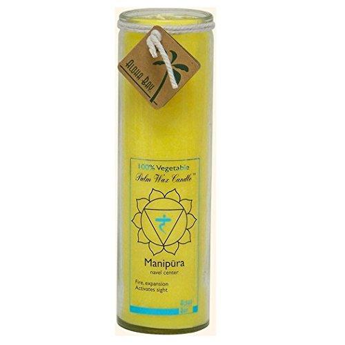 Aloha Bay Chakra geruchloses Glas Schutz Manipura Kerze, gelb (Unscented Jar Kerze)