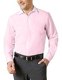 3228408cc465 Walbusch Herren Hemd Bügelfrei-Hemd Milano-Streifen, Langarm Kent-Kragen,  Regular