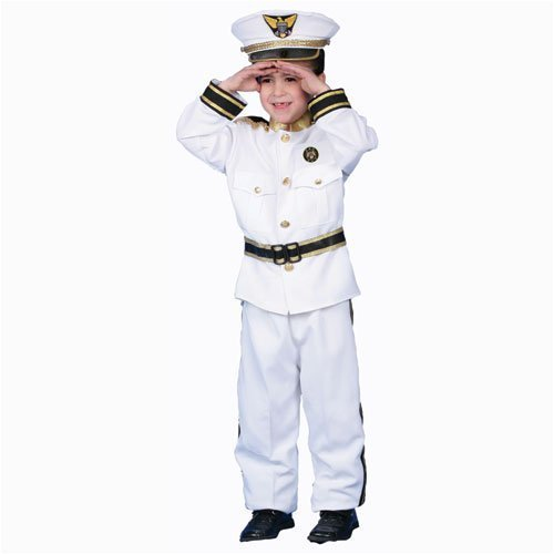 Deluxe Navy Admiral Costume Set - Toddler T4 by Dress Up ()