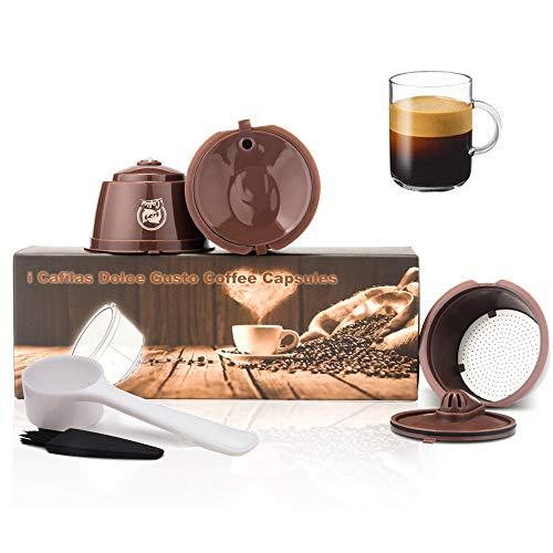 Filtros Cápsulas de Café Reutilizable, Generación 4 Cápsulas para Cafetera Dolce Gusto Recargables...