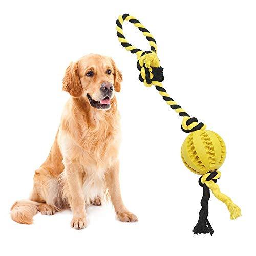 Hund Gummi Ball, Gummi kauen Spielzeug Puppy, Zahn-Reinigung- und Bite beständig Treat Ball, interaktives Hundespielzeug Hund, Treat Ball Spender Weihnachtsgeschenke -
