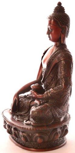 Estatua de Buda–Shakyamuni Figura de Buda Resin 19cm rotbraun 4