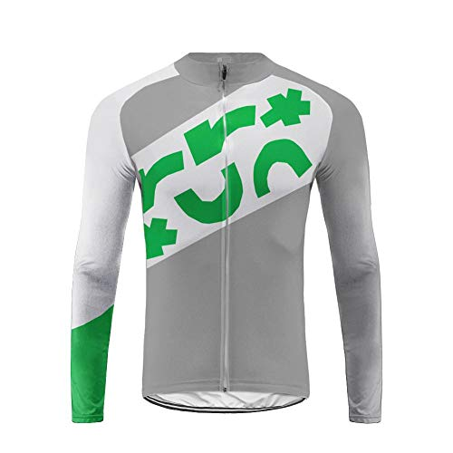 Uglyfrog September Designs Fahrradtrikot Langarm Herren Thermo Radtrikot Pro/Windstopper/Warm/Mantel/Reflektoren/Full Zip