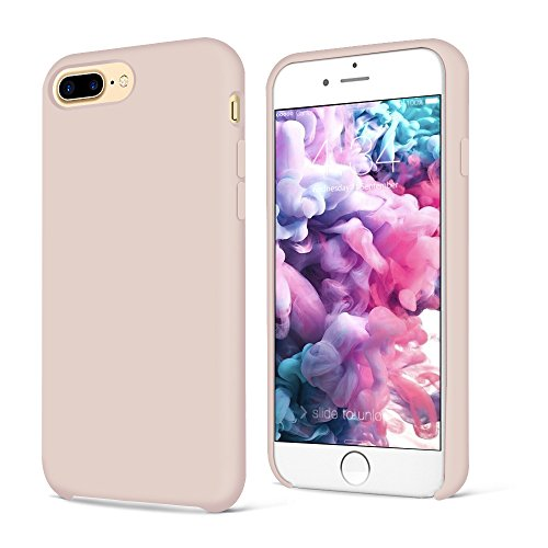 Cover iphone 8 plus, cover iphone 7 plus, surphy ultra sottile e anti-graffio antiscivolo silicone custodia cover per iphone 8 plus, iphone 7 plus (5.5 pollici) (rosa)
