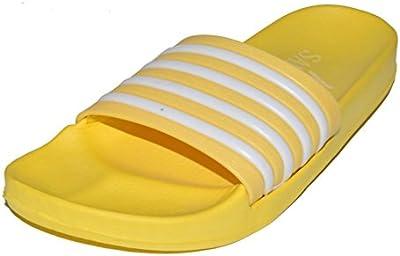 BTS-698A Mujer ducha de Escarpines &/chanclas, de color amarillo Talla 36-41