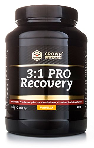 Crown Sport Nutrition 3:1 PRO Recovery, Informed Sport Supplement Powder, Vanilla Flavour - 590 gr