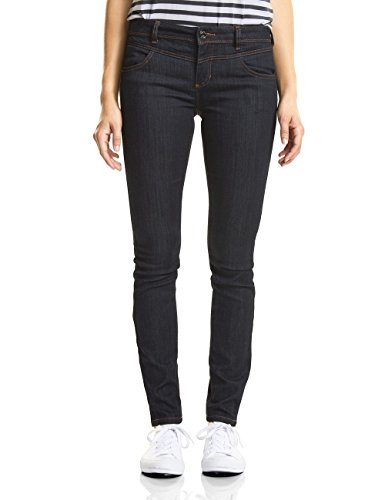 Street One Damen Slim Jeans 371605 York, Blau (Rinsed Wash 11321), W32/L32 (Herstellergröße: 32)
