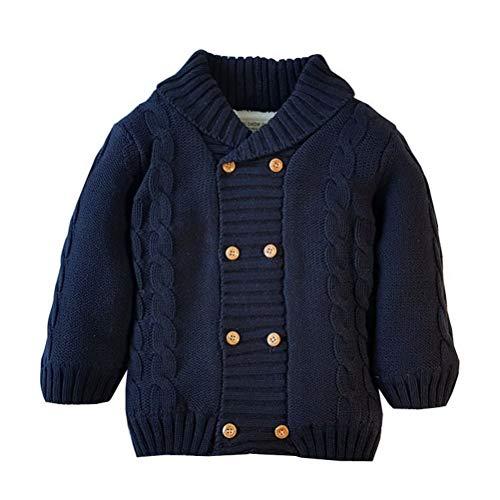 ARAUS Baby Strickjacke Wolle Fleece Gefütterte Winterjacke Warme Cardigan Schalkragen 0-5 Jahre alt -