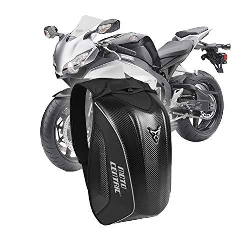 OD-B Motorradrucksack Outdoor Sport Reiten Harte Schale Paket Radfahren Computer Rucksack Kit Kohlefaser Umhängetasche,Black