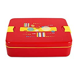 Cello Lunch Mate Air Tight Lunch Box, 3 Pcs, Red
