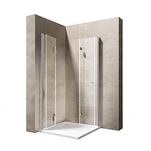 Sogood Eck-Duschkabine Eckdusche Ravenna26 70x70x190cm Duschabtrennung ESG-Sicherheitsglas Klarglas inkl. beidseitiger Easy-Clean-Beschichtung