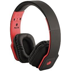 [Cable] NGS Nirvana Negro, Rojo Circumaural Diadema auricular - Auriculares (Circumaural, Diadema, Alámbrico, 20 - 20000 Hz, 1,5 m, Negro, Rojo)
