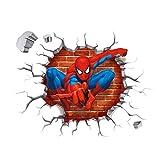 TMEET Nizza Wandaufkleber, Effekt Held Spiderman 3D