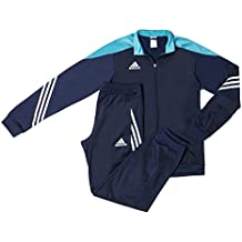 Adidas Sere14 Pes Suit Tuta da Ginnastica, Blu,