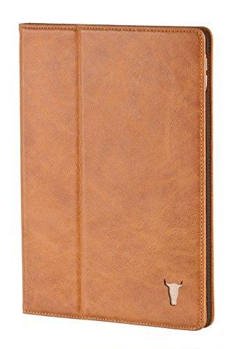 TORRO iPad Mini 1,2,3 Ledertasche / Hülle aus echtem, hochwertigem USA Leder mit Standfunktion für Apple iPad Mini 1, 2, und 3, Braun von TORRO