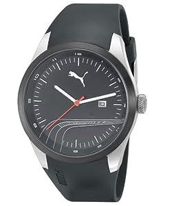 Reloj PUMA Motorsport PU102531001 de cuarzo unisex con correa de plástico, color negro de Puma