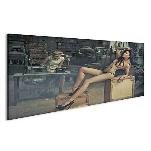 bilderfelix® Acrylglasbild Akt Industrie Glasbild Wandbild auf Glas