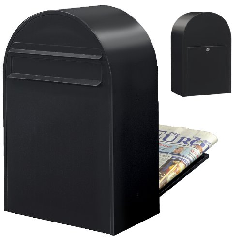 Bobi Briefkasten CLASSIC B, strukturschwarz RAL 9005