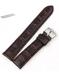 Sannysis® 20 cm Sweatband suave cuero auténtico de la correa de la venda del reloj Marrón